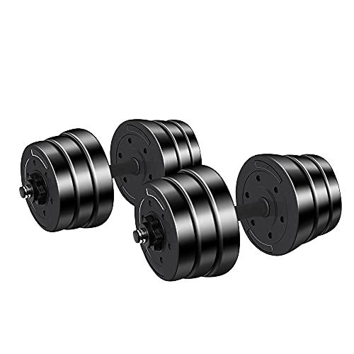 Fityou 20KG Eisen Hanteln Set 2er verstellbar mit Verbindungsstahlrohr Kurzhanteln Langhanteln Hantelset professionell Dumbbell Gewichten (20 kg (2 x 10 kg))