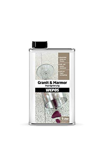 Wepos 2000200602 Granit und Marmor Imprägnierung 1 Liter
