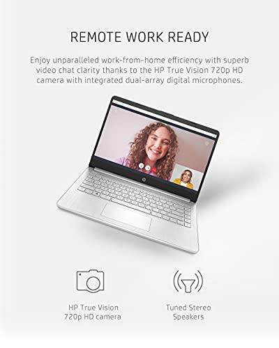 HP 14 Laptop, AMD Ryzen 5 5500U, 8 GB RAM, 256 GB SSD Storage, 14-inch Full HD Display, Windows 10 Home, Thin & Portable, Micro-Edge & Anti-Glare Screen, Long Battery Life (14-fq1021nr, 2021)