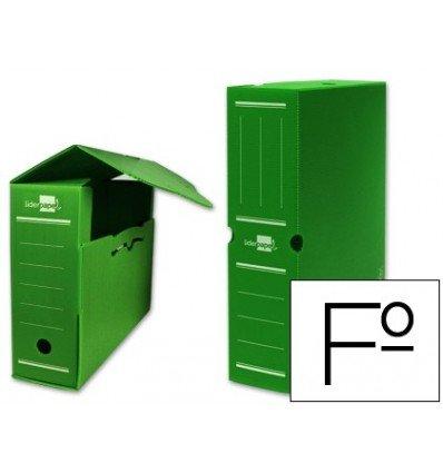 Liderpapel - Caja archivo definitivo plastico verde tamaño 36x26x10 cm (5 unidades)