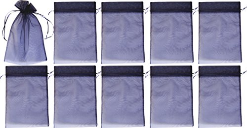 Frühes Forschen 10 Organzasäckchen, Organzabeutel dunkelblau ca. 30x20cm - wirkungsvoll als Schutz der Trauben vor Wespenfraß, der Kirschessigfliege, weitererer Insekten und Vögel