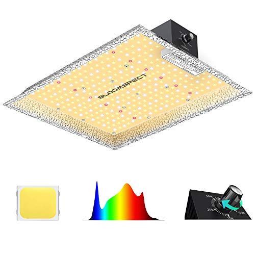 Grow Light, BLOOMSPECT Dimmable SL1000 LED Grow Lights Full Spectrum for Indoor Plants with Samsung Diodes, 1000W Plant Growing Lamps with Reflector Hood for Veg and Bloom 2x2ft Coverage