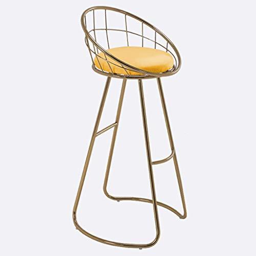 WGEMXC Stühle, Hochstühle, Barstühle, Hocker Eisen Barstool Hollow Leisure Cafe High Hocker Makeup Stuhl Runde Polster,75 cm,75 cm