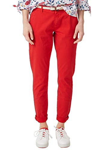 s.Oliver RED LABEL Damen Smart Chino: Hose mit Gürtel luminous red 40.34