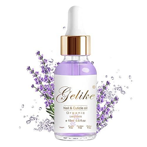 Gelike Nagelhautö Nail & Cuticle Oil, Nagelpflegeöl, Pflege für Nägel & Nagelhaut, Nagelpflege Mit Lavendelduft bei Praktischer Pipette-15ml