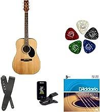 Jasmine S35 Acoustic Guitar, Natural - Accessories bundle