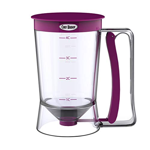 Chef Buddy Batter Dispenser, 4-Cup, Purple