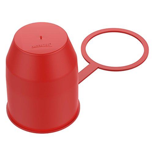 AUPROTEC Protège Boule d'Attelage avec Anneau d'arrêt Capuchon de Protection de Boule d'attache remorque Rouge