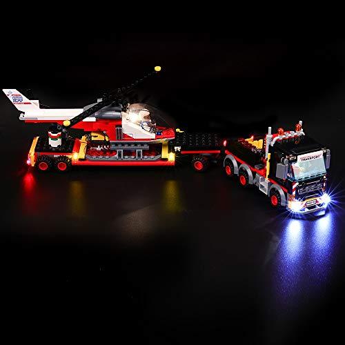 BRIKSMAX Kit di Illuminazione a LED per Lego City Trasportatore Carichi Pesanti, Compatibile con Il Modello Lego 60183 Mattoncini da Costruzioni - Non Include Il Set Lego