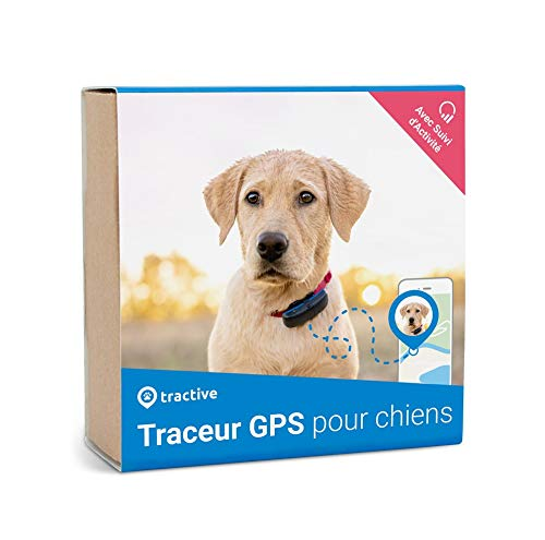 Traceur GPS Tractive Édition 2019 - Collier GPS pour chiens avec suivi d'activité