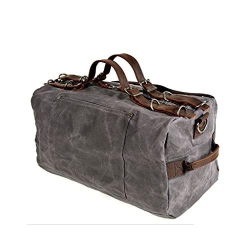 ZHONGTAI Borsa da Viaggio Leggera da Viaggio per Viaggiare Canvas Sports Attrezzature Borsa per Uomo Donne Weekender Bag per Gym Business (Color : Light Gray)