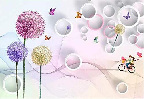 Papel Pintado 3D Murales Guirnalda rosa - Fotomurales Para Salón Natural Landscape Foto Mural Pared, Dormitorio Corredor Oficina Moderno Festival Mural 250x175 cm - 5 tiras