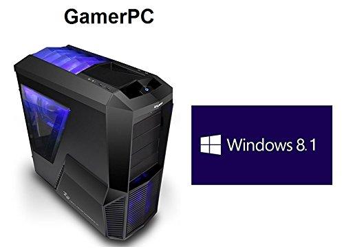 HeidePC   GamerPC   Blue Line   Intel i7-4770K 4x3.5 (3.9)   AMD Radeon R9 295X2 8GB   4GB DDR3   256GB SSD   HDD de 1 TB   24x DVD ± RW   16x grabadora de BLU-Ray   Win 8.1 Pro 64 bit