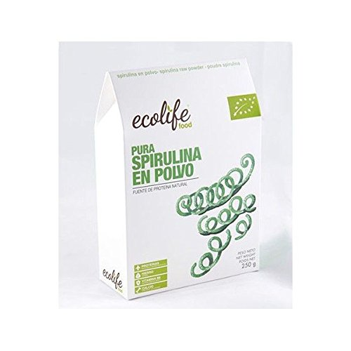 Espirulina Pura En Polvo Bio 250 Gr de Ecolife Food