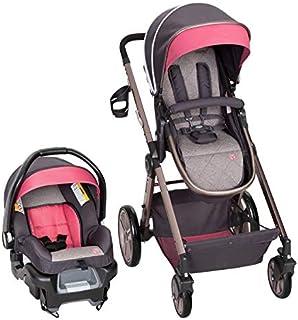 عربة أطفال جولايت سناب جير تي اس 53 سي 46 اي من بيبي تريند بنظام تنقل، اللون الاصفر الرومانسي، والوردي