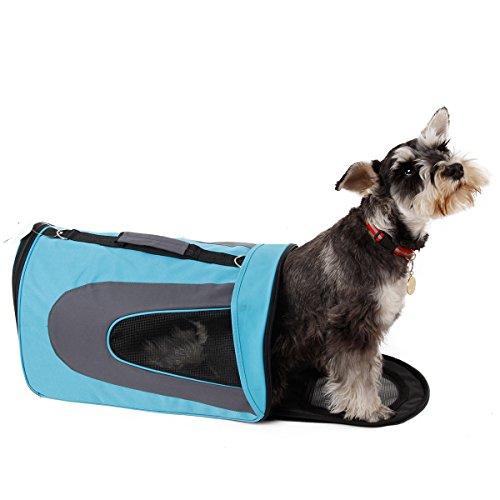 CCDD Animali domestici ombra Borsa portatile dell'animale domestico del sacchetto traspirante del sacchetto dell'animale domestico del cane contenitore per animali domestici (Size : S)