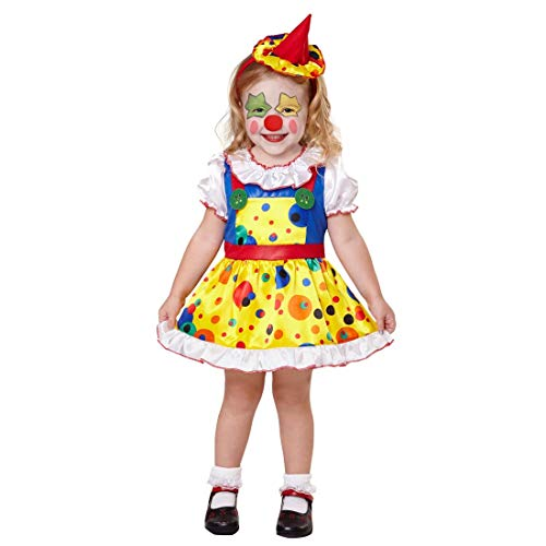 NET TOYS Adorable Disfraz Infantil de Payaso | Colorido en Talla 99 - 104 cm, 2 - 3 años | Original Disfraz para niños pequeños arlequín de Circo Carnavales Infantiles y Festivales