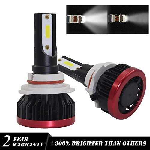 Kit Lampe Phare Avant LED CHIP COB 9005 Lampe LED 6000K HB3 Lampe Phare Avant Bi-Xénon 48W 6000LM Froid Blanc Pure Lampe Tout-en-Un Lampe de Remplacement Garantie 2 Ans Lampe Phare Automatique