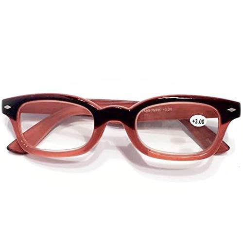 2021年NEWカラー入荷 WA001WPK WINE/PINK ウェリントンタイプ 老眼鏡 福祉 介護 ルーペ Reading Glasses シニアグラス ダルトン BONOX 男女兼用 敬老の日 プレゼント 母の日 (BK/BROWN, 1.0) (