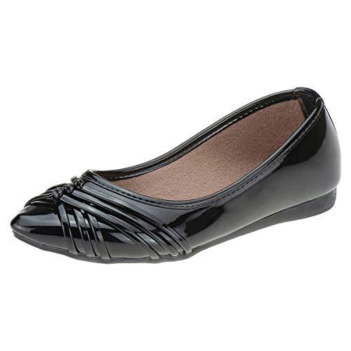Sapatilha Infantil Sapato Menina Confortável Macia Festa Eleganteria Tamanho:32;Cor:Preto
