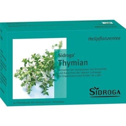 Sidroga Thymian-Tee – Arzneitee bei Husten und Bronchitis – 20 Filterbeutel à 1,6 g