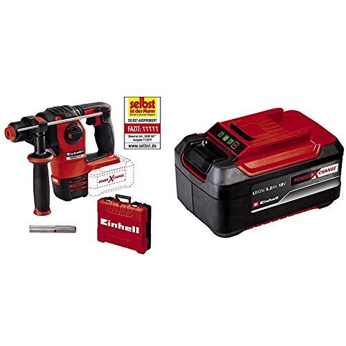 Einhell Martello tassellatore a batteria HEROCCO (senza batteria & 4511437 Batteria a Ioni di Litio Power X-Change 5,2 Ah Plus, 18 V