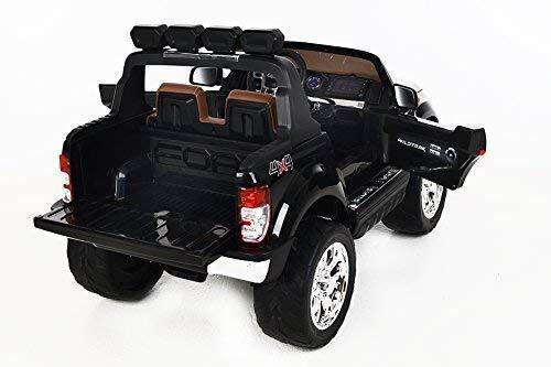 RC Auto kaufen Kinderauto Bild 4: RIRICAR Ford Ranger Wildtrak 4X4 LCD Luxury, Elektro Kinderfahrzeug, LCD-Bildschirm, schwarz - 2.4Ghz, 2 x 12V, 4 X Motor, Fernbedienung, 2-Sitze in Leder, Soft Eva Räder, Bluetooth*