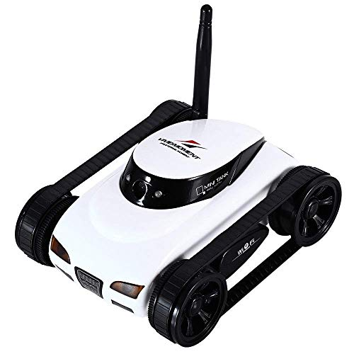 Moderna inalámbrico RC tanque de Creative Technology WiFi del tanque del coche con la cámara Juguetes Resistencia a la caída de regalos remotos de control de vídeo Teléfono de juguete del tanque del c