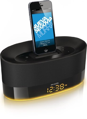 Philips DS1600/12 - Altavoz con puerto dock para iPhone y iPod, negro