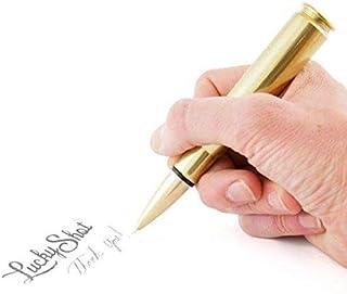 Lucky Shot USA .50 Caliber Bullet Twist Pen | Once Fired Bullet Casing | Brass