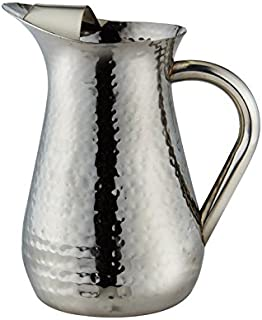 hammered metal water pitcher
