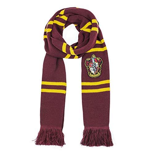 Cinereplicas - Harry Potter - Bufanda - Ultra Suave - Edición Deluxe - Licencia Oficial - Casa Gryffindor - 250 cm - Rojo y Negro