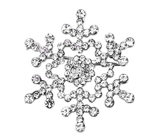 CrownOfRibbons Snowflake Brooch, Chrismas Pin, Jewellery for Stocking Fillers