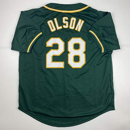 Unsigned Matt Olson Oakland Green Custom Stitched Baseball Jersey Size Men's XL New No Brands/Logos