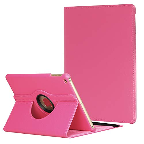 Dream Wings iPad Air 3rd Generation 10.5 inch 2019/10.5 inch 2017 Case,360 Degrees Rotating Multi Angle Viewing Stand Screen Protective Smart Case (iPad 10.5, Hot Pink)