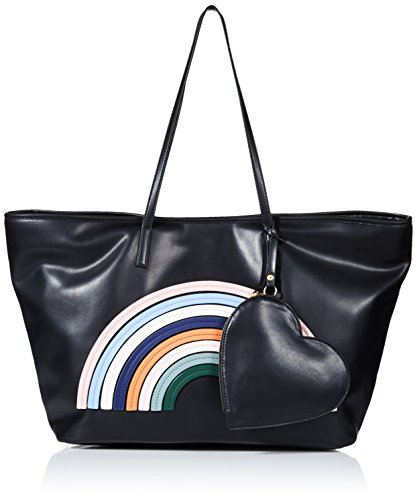 Dear Drew by Drew Barrymore on The Go Petit Vegan Leather Rainbow Tote Bag, perfect pink