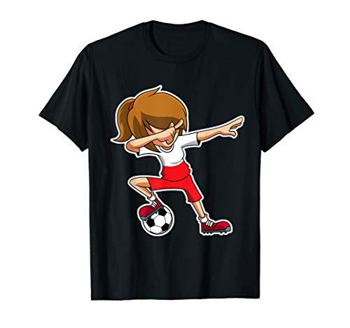 Dabbing Fußball Mädchen Polen Trikot, Polnisch Kinder Dab T-Shirt