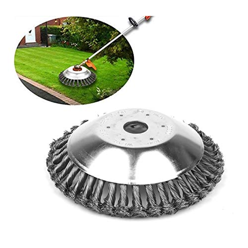 Suprcrne 8 inch Rotary Weed Brush Joint Twist Knot, Steel Wire Wheel Brush...