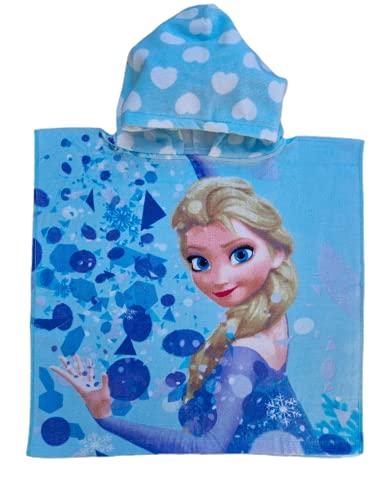 Poncho Ellepi Mare Piscina Accappatoio Asciugamano Bagno Cappuccio Neonato Bambini Disney Minnie Topolino (Frozen)