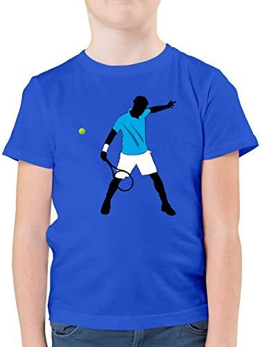 Sport Kind - Tennis Spieler Squash - 140 (9/11 Jahre) - Royalblau - Squashball - F130K - Kinder Tshirts und T-Shirt für Jungen