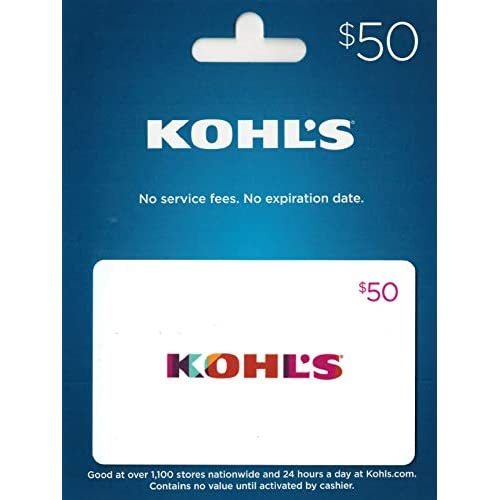 Amazon Kohls Gift Card 50 Cards