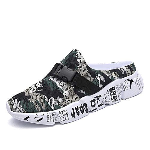 Cebbay Tongs Mixte Adulte, Chaussons Homme Camouflage Mesh Léger Chaussures, Shoes Marche Plage Sport Sandales 39-46 (Chaussettes gratuites pour Vous)