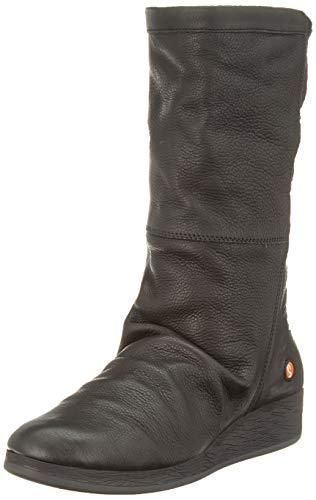 Softinos Damen ABBE555SOF Hohe Stiefel, Schwarz (Black 000), 39 EU