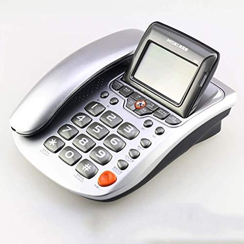 HFFFHA Teléfono Fijo teléfono Fijo, portátil de Escritorio con Cable de teléfono en Tiempo Real con identificador de Llamadas, devolución de Llamada, grabación de Llamadas, casa/Oficina/Altavoz ho