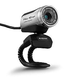 cheap AUSDOM HD 1080P webcam with microphone, 12.0MP desktop USB laptop webcam, auto exposure, …