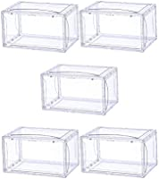 Holahoney shoe box clear plastic stackable