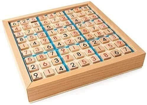 SJZLMB Schachspiel Internationale Schachprüfer Sudoku Chess-Ziffern 1 bis 9 können nur einmal in Jede Zeilenlinie eingehen und intelligentes lustiges pädagogisches Holzspielzeug überprüfen