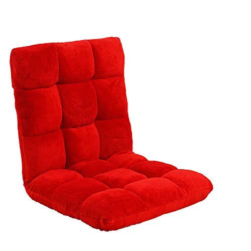 JIAHENGY Meditation Chair Imbottita,Semplice Divano da Terra, divanetto monoposto, Divano Letto Pieghevole-Rosso
