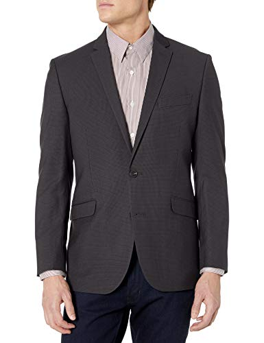 Haggar Men's Big and Tall B&T Houndstooth Plaid Lambswool Classic Fit Sport Coat, Oatmeal, 54R