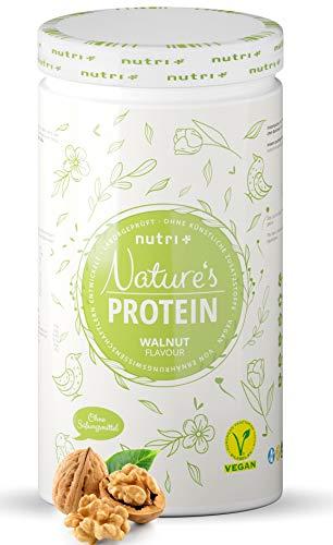NATURES PROTEIN Walnuss 500g - natürliches Proteinpulver ohne Süßungsmittel, Laktose, Zucker & Milch - 82% Eiweiß - pflanzliches Eiweißpulver - Shake vegan & glutenfrei